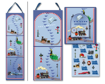 Trains growth chart for kids