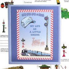 Trains baby memory book