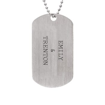 sterling silver daddy dog tag