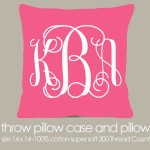 Monogrammed pillow makes the perfect accent to any room.  Babies rooms, kids room or any room will look better with this accent pillow. Visit My Retro Baby today for our large election of personalized gifts!