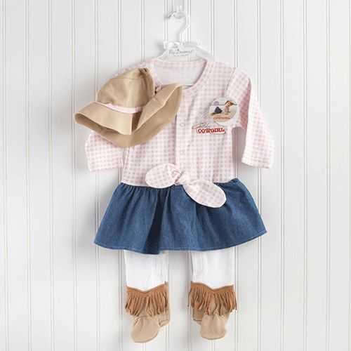 New! Sweet Baby Cowgirl Layette Set