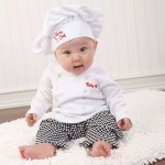 New Adorable Baby Chef. - Baby Chef layette gift set! Newborn gifts and themed baby gifts at My Retro Baby - coolest baby stuff on the planet! Check out all of the unique baby gifts at My Retro Baby today!
