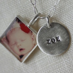Classic Photo Name Necklace