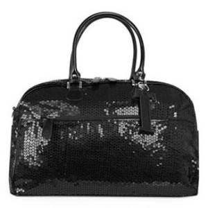 black sequin diaper bag