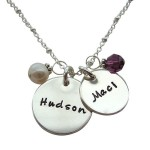 Double charms personalized moms necklace