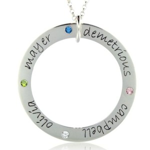 Forever Birthstone Loop Necklace