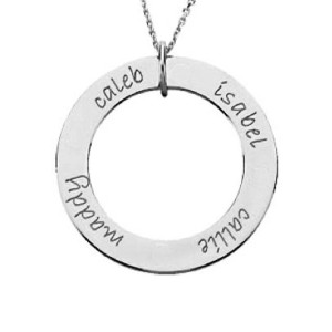 Four Name Personalized Loop Necklace