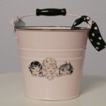 french girls vintage bucket for kids