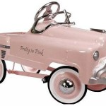 Pretty in Pink Classic Pedal Car is the ultimate gift! Retro pedal cars available at My Retro Baby! Coolest Baby Stuff on the Planet!