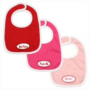 personalized retro bib set - girl
