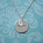 simple silver charm necklace