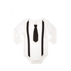 black tie onesie with suspenders