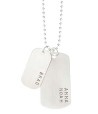 Dog Tag Necklace with Three Names