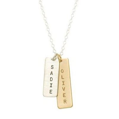 Personalized Long Tag Necklace
