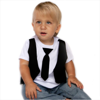 Dapper Dude Kids Vest Tee