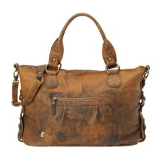 OiOi jungle leather slouch tote