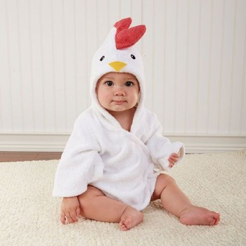 Barnyard Bath time Chicken Robe for Baby