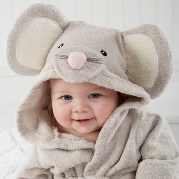 Squeaky Mouse Bath Robe for Baby