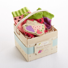 fruity booties sock gift set