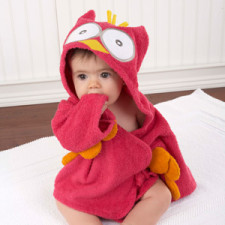 Pink Owl Robe for Baby
