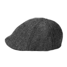 Black & Gray Herringbone Baby Cap