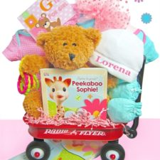 baby girl gift wagon