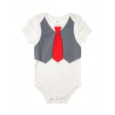 Baby onesie with vest and tie- other colors available
