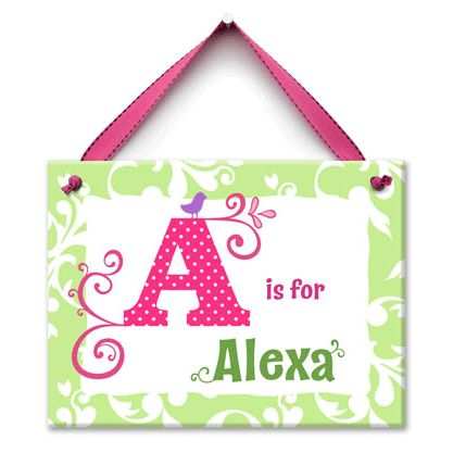 Kids Name Plate for Girls