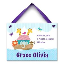 noahs ark girl birth wall tile