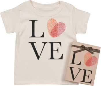 Organic Love Fingerprint Tee