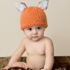 Fox Knitted Hats for baby