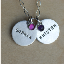 Classic Personalized Mom Necklace
