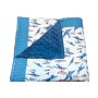 Vintage airplane quilted baby blanket