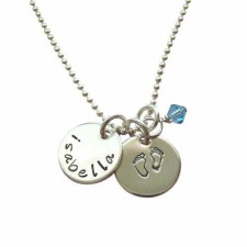 precious baby feet necklace