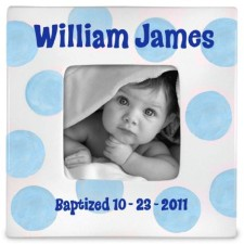 Baptism Boy Personalized Photo Frame