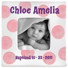 Baptism Girl Personalized Frame