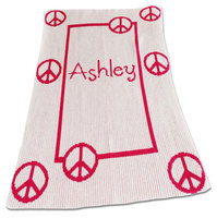 peace signs stroller blanket