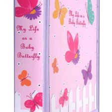 flowers and butterflies baby memory book