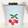 Cherries enamelware storage bucket