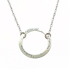 circle infinity personalized moms necklace