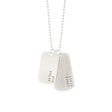 Dog Tag Necklace with Four Names
