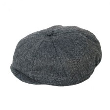 Newsboy Black and Gray Hat for Baby