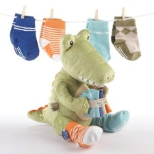 Green Croc in Socks Gift Set