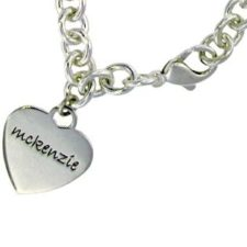 Personalized Mom Heart Bracelet