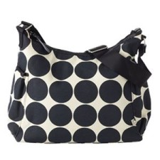Ebony Desert Dot Hobo Diaper Bag
