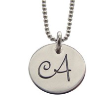 Elegant initial personalized necklace