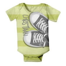 Personalized retro sneakers onesie