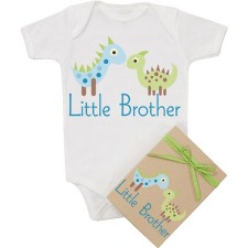 organic little brother onesie