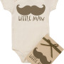 Mustache Organic Onesie for Baby -Little Man