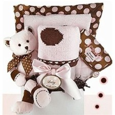 deluxe dot baby girl gift basket
